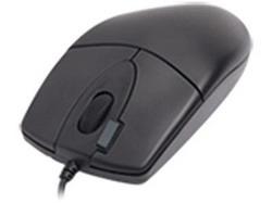 Мышь A4 OP-620D-1 2X Click Black optical PS/2 OP-620D PS (BLACK)