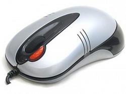 Мышь A4 X5-50D-2 fashion silver light optical dual focus USB 2X Click X5-50D-2 UP (SILVER)
