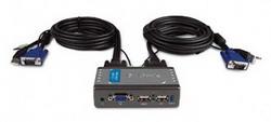 Коммутатор Dlink 2-х портовый USB KVM (KVM-221) KVM-221