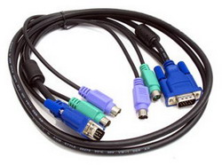 Кабель KVM Dlink разъем PS/2 клавиатурный, PS/2 для мыши, для монитора.длина 1,5м(Dlink DKVM-CB15 ) DKVM-CB15
