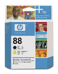 Черная и желтая печатающая головка HP №88 C9381A