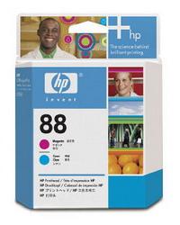 Пурпурная и голубая печатающая головка HP №88 C9382A