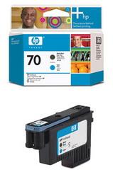 Печатающая головка HP №70, матово-черный и голубой C9404A