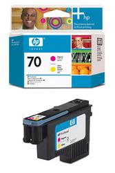 Печатающая головка HP №70, пурпурный и желтый C9406A