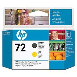 Печатающая головка HP №72, матовый черный и желтый C9384A