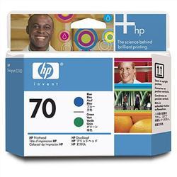 Печатающая головка HP №70, синий и зеленый C9408A