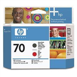 Печатающая головка HP №70, матово чёрный и красный C9409A