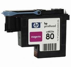 Пурпурная печатающая головка HP № 80, в комплекте с очистителем C4822A