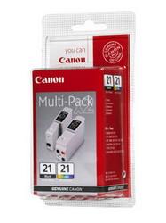 Комплект: черная и цветная чернильницы для принтеров BJC-5500/2000/2100/4100/4550/4650/4200/4300/4400//S100 BCI-21BK/CLMULTIPACK