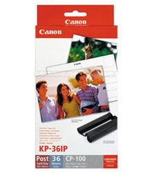 Набор бумаги и цветных красителей для фотопринтеров CP-100/200/300/220/330//SELPHY CP400/500/600/510/710, 36 листов 10х15 см KP-36IP