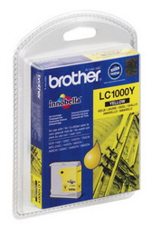Картридж желтый для МФУ DCP-130C/330С//MFC-240C/5460CN Brother, 500 страниц LC1000Y