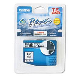 Картридж TZ131 для термопринтера P-Touch с лентой 12 мм, черный на прозрачном TZ131