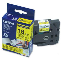 Картридж TZ641 для термопринтера P-Touch с лентой 18 мм, черный на желтом TZ641