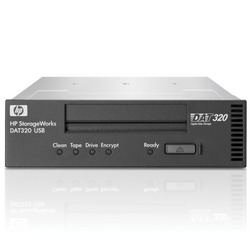 HP StorageWorks DAT 320 USB2.0 Tape Drive, Ext.(DAT 160/320Gb; incl. HP Data Protector Express SSE; 1data ctr, 1cln ctr; int. usb cabl; OBDR, carbon) AJ823A