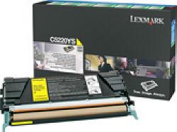 Тонер-картридж желтый для лазерных принтеров Lexmark C522/С524, 3000 страниц