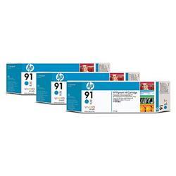 Струйный картридж HP 91 голубой тройная упаковка