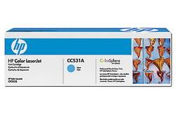 Тонер-картридж HP CC531A голубой