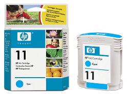 Струйный картридж HP 11 голубой C4836A