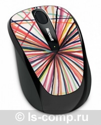 Мышь Microsoft Wireless Mobile Mouse 3500 Artist Edition Mike Perry - Design 1 White-Black USB GMF-00131 фото #1