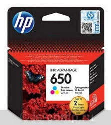 Струйный картридж HP 650 трехцветный CZ102AE фото #1