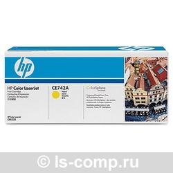 Лазерный картридж HP CE742A желтый фото #1